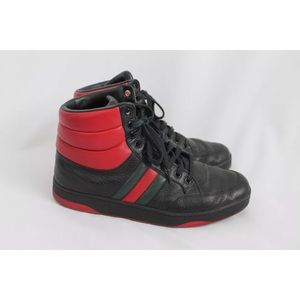 Gucci leather hi top sneakers us size 10